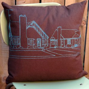 Cityscape Pillow by K Studio