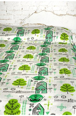 Neighborhood Bedspread by Julia Rothman