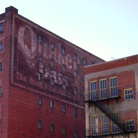 Quaker Oats ghost sign