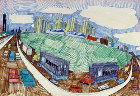 Dan Ryan Expressway by Wesley Willis