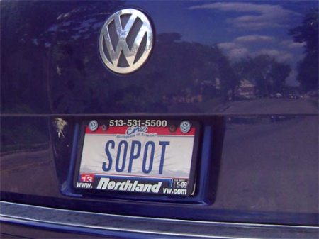 Sopot license plate in Cincinnati