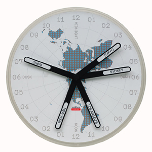 The KnoWhere Clock - One World by Artecnica