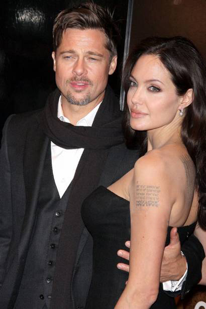 Angelina Jolie's tattoo collection is well-known and includes the latitude