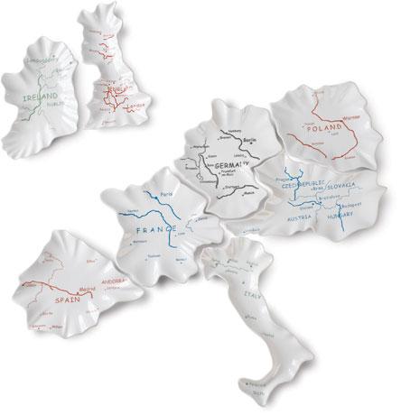 European map plates