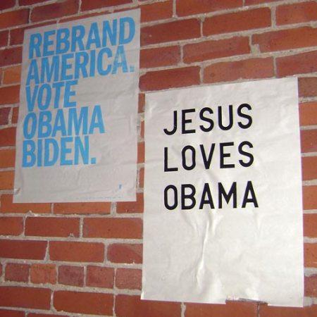Obama posters in Cincinnati