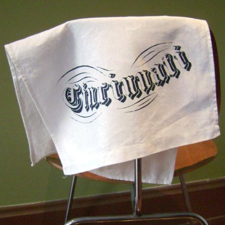Cincinnati tea towel