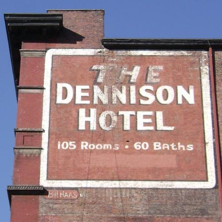Dennison Hotel ghost sign downtown