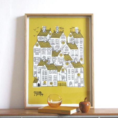 Town Print by Lisa Jones