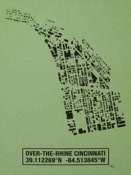 OTR Building Footprint print in Apple