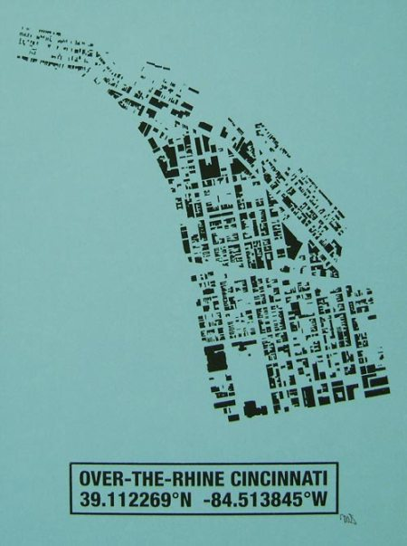 OTR Building Footprint print in Lagoon
