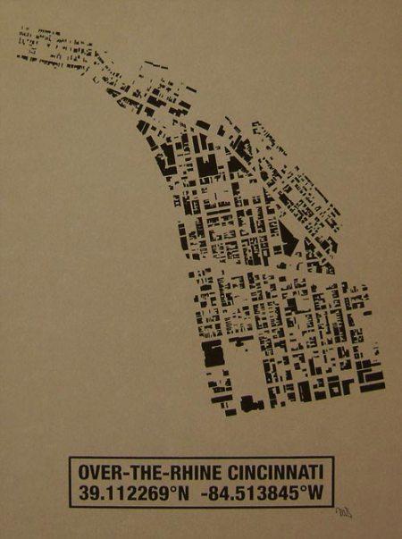 OTR Building Footprint print in Nutmeg
