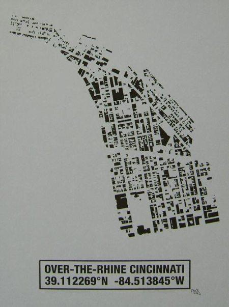 OTR Building Footprint print in Platinum