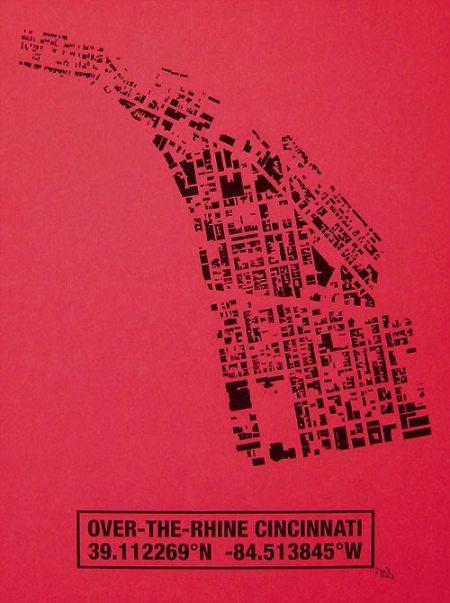 OTR Building Footprint print in Raspberry