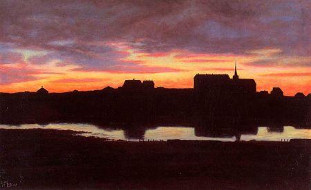Sunset by Tjörnin by Þórarinn B. Þorláksson