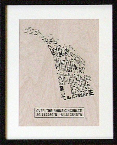 OTR Building Footprint print on birch veneer