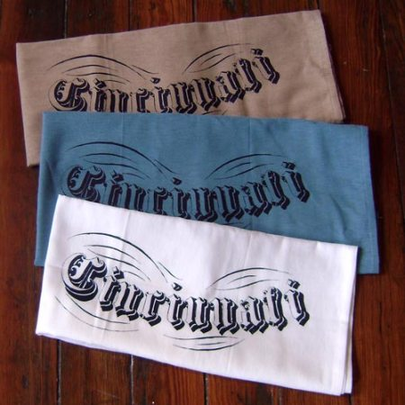 Cincinnati Floursack towels by VisuaLingual