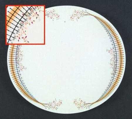 Buckingham dinner plate by Eva Zeisel for Hall
