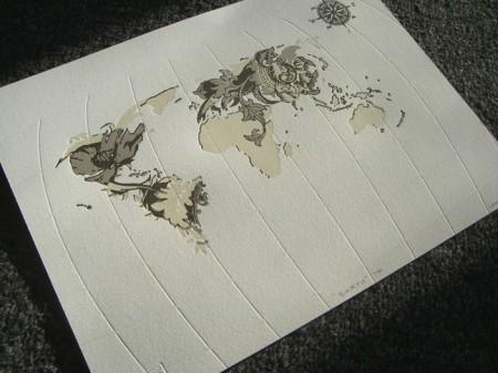 Earth print by Jane Kim
