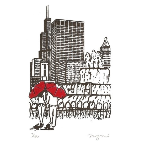city print by Megan Nolton