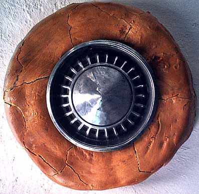 tire sculpture by Betsabeé Romero