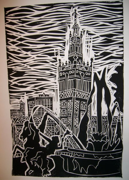 woodcut by Jackie Denning