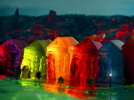Alamo Square in Jell-O by Liz Hickok