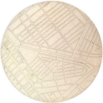 concrete map trivet by Nobuhiro Sato