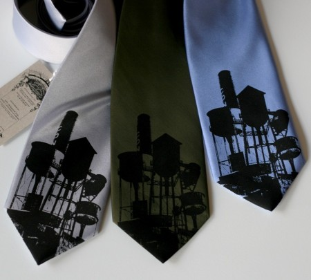Detroit Water Towers tie