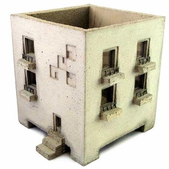 concrete planter by Nobuhiro Sato