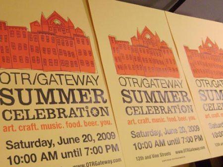 printing the OTR/Gateway Summer Celebration poster