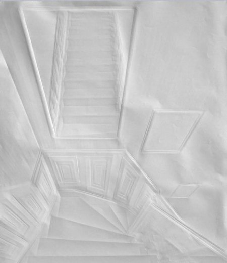 folded paper interior by Simon Schubert