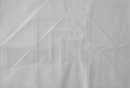 folded paper interior by Simon Schubert