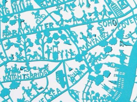 London map print by Famille Summerbelle