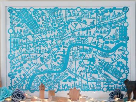 London map print by Famille Summerbelle