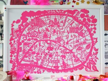 Paris map print by Famille Summerbelle