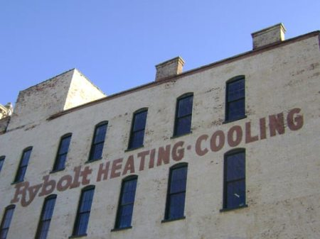 Rybolt Heating Cooling ghost sign