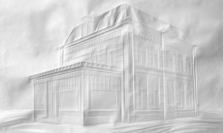 folded paper architecture by Simon Schubert