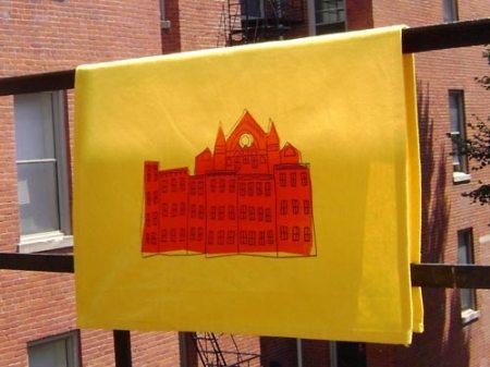 Summer Celebration tea towel by VisuaLingual