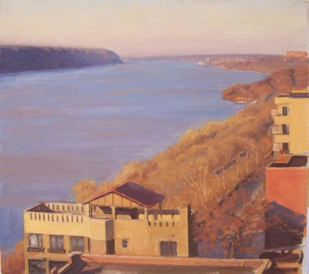View Up Hudson in Afternoon by Bennett Vadnais