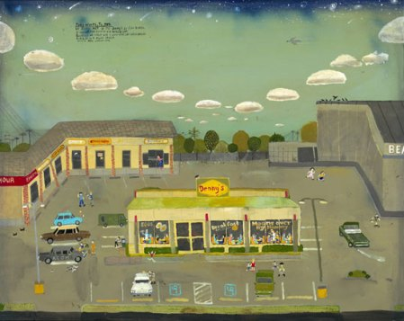 The Denny's Parking Lot by Esther Pearl Watson