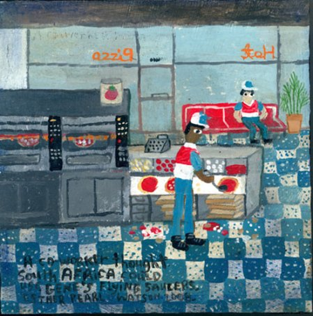 Domino's Pizza by Esther Pearl Watson