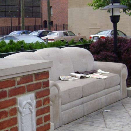 Limestone Sofa by Robert Huff