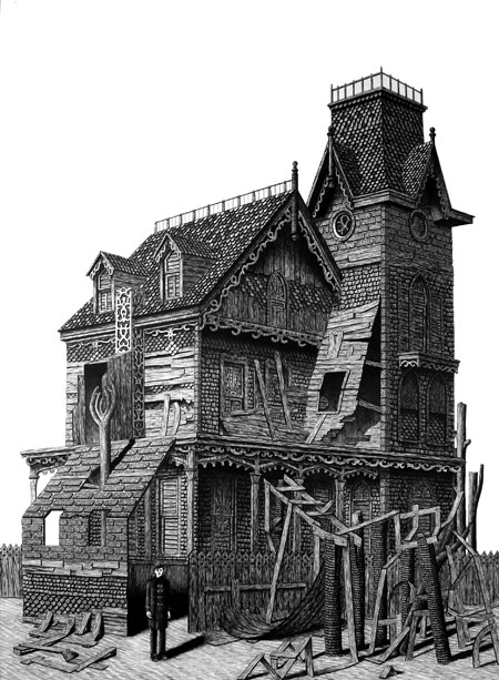 Addams Family Home 2 by Luke Painter