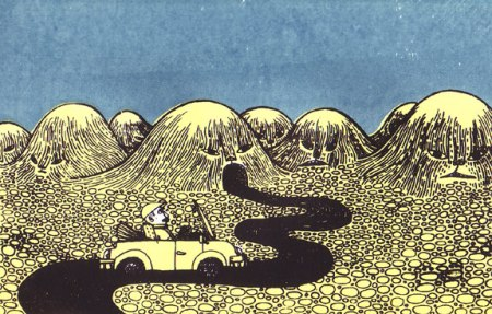 Driving into the Mouths of Monstrous Mountains by Daria Tessler