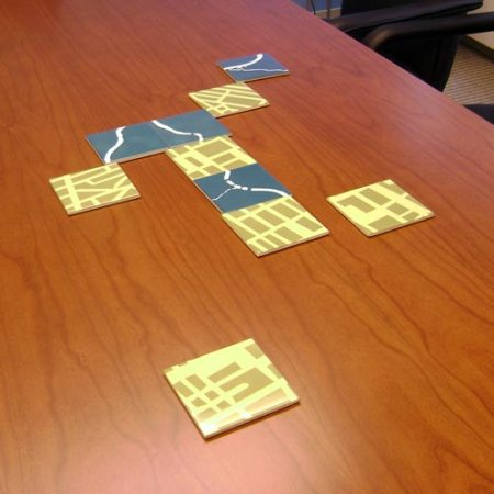 Haile Foundation conference room table with VisuaLingual coasters