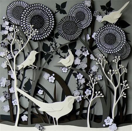 Hedgerow Birds by Helen Musselwhite