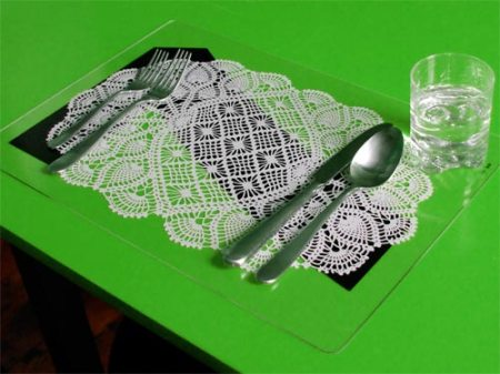 Grandma's Doily Gas Station Placemat by VisuaLingual