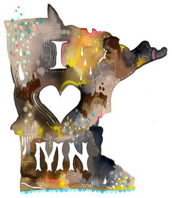 Minnesota by Katie Daisy Lombardo