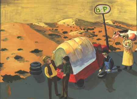 Oregon Trail painting by Violet Aveline