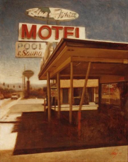 Blue & White Motel by David Imlay